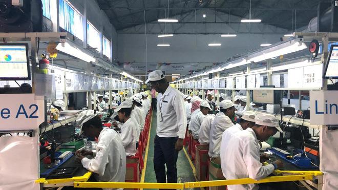 Nhà máy lắp ráp của Transsion ở Addis Ababa, Ethiopia.