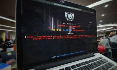 Giao diện một website tên miền .vn bị hacker Philippines can thiệp.