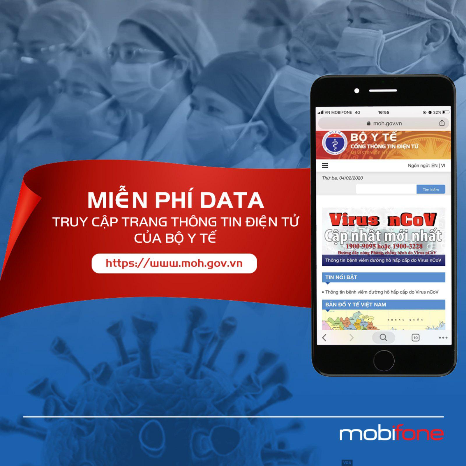 Nhà mạng miễn cước data truy cập trang web Bộ Y tế - Ảnh 1.