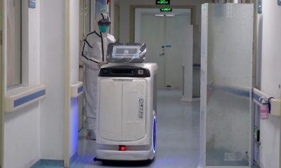 Benh vien khap Trung Quoc su dung robot y te doi pho virus corona hinh anh 1 robo_corona.jpg