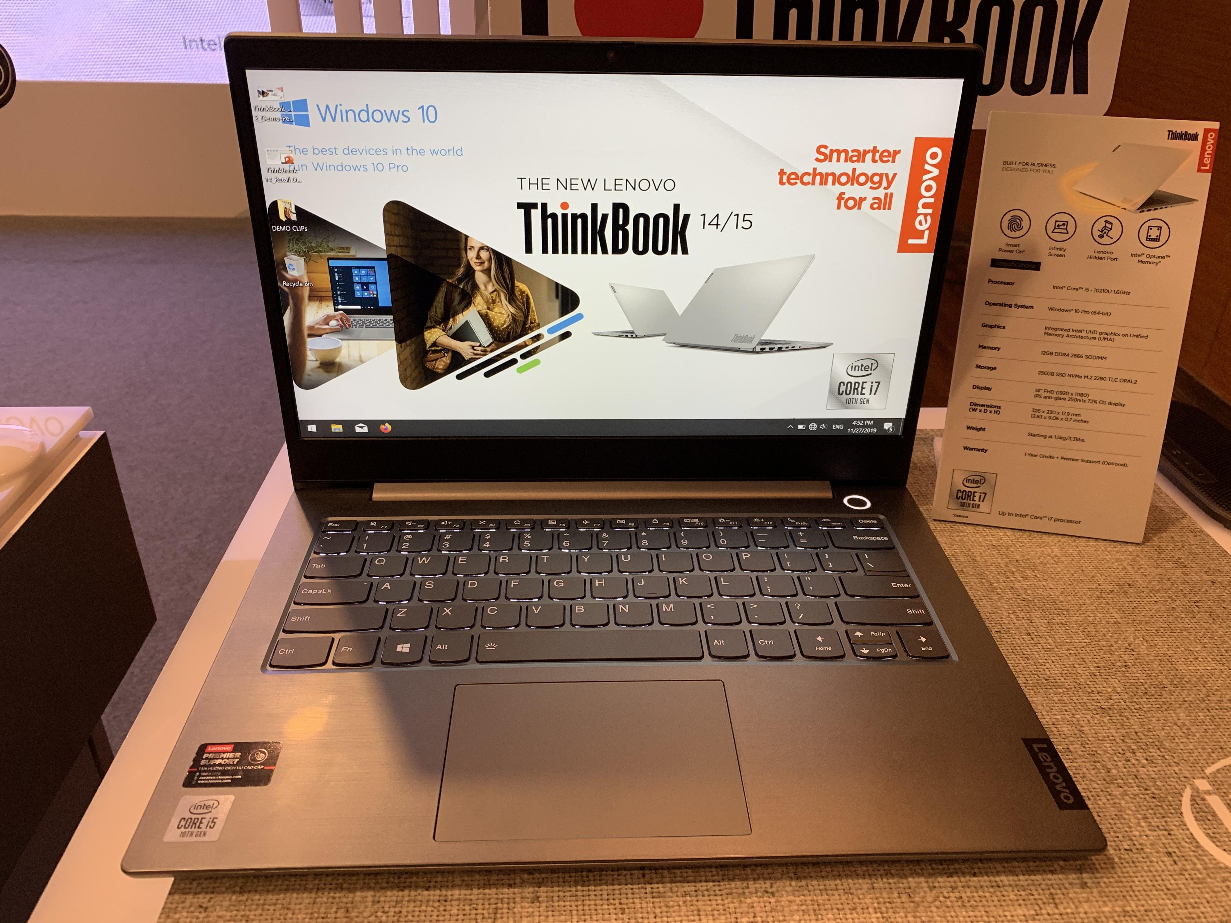Lenovo ra mắt ThinkBook 14/15: Kiểu dáng mới, bảo mật tốt, giá từ 12 triệu đồng - 4