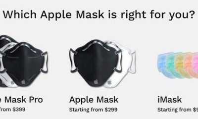 Ba phiên bản khẩu trang của Apple.