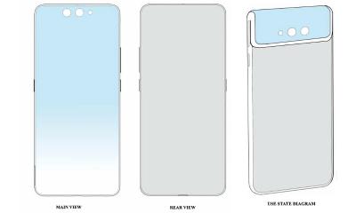 Bằng sáng chế về smartphone gập cụm camera của Xiaomi. Ảnh: Tiger Mobile.