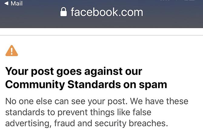 Facebook ẩn nhiều bài viết của người dùng vì đánh giá đó là tin rác.