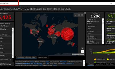 Một trang bản đồ thông tin về dịch bệnh. Ảnh: TNW