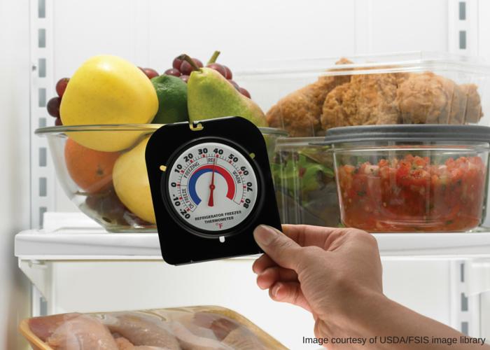 Duy trì nhiệt độ hợp lý giúp đồ ăn tươi ngon và tiết kiệm điện cho tủ lạnh. Ảnh: FSIS.