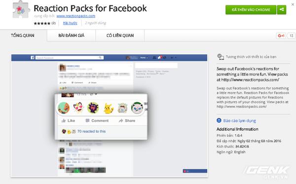 Hướng dẫn đổi biểu tượng cảm xúc mới của Facebook sang hình Pokemon hoặc Donald Trump - Ảnh 2.