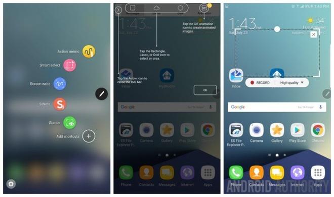 Galaxy Note 7 rò rỉ giao diện và tính năng mới